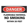 Brady 88359 Danger No Smoking Sign, 7 x 10In, ENG, Text