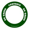 Label Safe 280503 Content Label, White/Green, 2 In. W