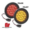Federal Signal 607102-02 Turn Light, LED, Amber, Round, 4-5/16 In Dia