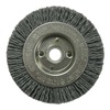 Weiler 31094 Wheel Brush, 3 In D, Wire 0.040/120 In