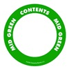 Label Safe 280505 Content Label, 2 In. W, Mid Green
