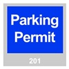 Brady 96231 Parking Permits, Windshield, Blue, PK 100