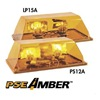 Pse Amber 6110MH Mini Lightbar, Halogen, Ambr, Mag, 15-1/2 In