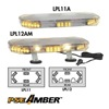 Pse Amber 2122A1WH Lo Mini Lightbar, LED, Ambr, Perm, 22-1/2 In