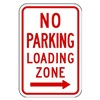 Zing 2372 Parking Sign, 18 x 12In, R/WHT, R7-6R, MUTCD