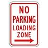 Lyle R7-6R-12HA Parking Sign, 18 x 12In, R/WHT, R7-6R