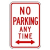 Lyle R7-1D-12HA Parking Sign, 18 x 12In, R/WHT, R7-1D