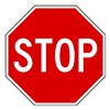 Zing 2292 Traffic Sign, 18 x 18In, WHT/R, Stop, Text