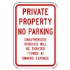 Zing 2377 Parking Sign, 18 x 12In, R/WHT, Text, MUTCD