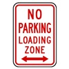 Zing 2370 Parking Sign, 18 x 12In, R/WHT, R7-6D, MUTCD