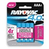 Rayovac RF724-4C Rechargeable Battery, 650mAh, PK 4