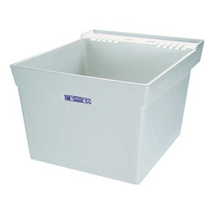 Mustee Utility Sink : Mustee 19W Laundry Tub, Thermoplastic, 24x20x34 In Be the first to ...