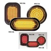 Nova LEDWIC3A Warning Light, LED, Amber, Oval, 6-1/2 In L