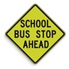 Lyle S3-1-30SYGA Traffic Sign, 30 x 30In, BK/YEL, Text, S3-1