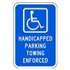 Lyle HC-011-12HA Parking Sign, 18 x 12In, WHT/BL, HDCP