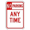 Lyle LR7-100-12HA Parking Sign, 18 x 12In, R/WHT, Text, R7-1