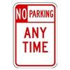 Lyle LR7-100-12HA Parking Sign, 18 x 12In, R/WHT, Text, R7-1