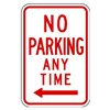 Zing 2367 Parking Sign, 18 x 12In, R/WHT, R7-1L, MUTCD