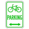 Lyle D4-3D-12HA Parking Sign, 18 x 12In, GRN/WHT, PRKG
