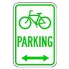 Lyle D4-3D-12HA Parking Sign, 18 x 12In, GRN/WHT, PRKG