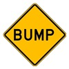 Lyle W8-1-12HA Traffic Sign, 12 x 12In, BK/YEL, Bump, Text