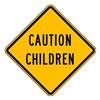 Lyle LW9-11A-24HA Caution Sign, 24 x 24In, BK/YEL, Text