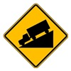 Lyle W7-1-24HA Traffic Sign, 24 x 24In, BK/YEL, SYM, MUTCD