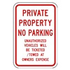 Tapco 130835 Parking Sign, 18 x 12In, R/WHT, Text