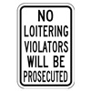 Lyle SL-015-12HA Traffic Sign, 18 x 12In, BK/WHT, Text