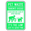 Brady 115209 Notice Sign, 18 x 12In, WHT/GRN, AL, ENG