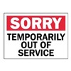Prinzing SM670E Service Sign, Out of Service Do Not Use