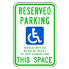 Tapco 373-05776 Parking Sign, 6 x 12In, GRN and BL/WHT
