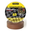 Stanley 3ZGK7 Electric Tape, 3/4 In, 66 Ft, 7 Mil, Brown