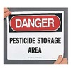 Accuform Signs MCAW109VP Danger Sign, 10 x 14In, R and BK/WHT, ENG