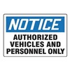 Accuform Signs MADM860VP Notice Sign, 24 x 36In, BL and BK/WHT, ENG