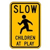 Lyle LW9-21-18HA Traffic Sign, 18 x 24In, BK/YEL, S5-1, MUTCD
