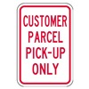 Lyle PA-008-12HA Parking Sign, 18 x 12In, R/WHT, Text