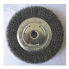 Westward 4ECY3 Wire Wheel, 10 In D, Steel, 0.0140 Wire