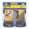 Irwin 318015 Drill Bit Set, HSS, 1/16-3/8 In, 15 Pc
