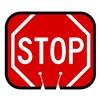 Tapco 535-00013 Traffic Cone Sign, Red w/White, Stop