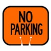 Tapco 535-00002 Traffic Cone Sign, Orng w/Blk, No Parking