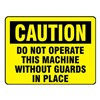 Electromark L280-H Caution Label, 5 In. W, 3-1/2 In. H, PK 8