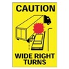 Brady 63210 Shipping Vehicle Sign Drivers Chock Both