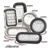 Maxxima AX50WF - KIT Back-Up Light, LED, White, Flange, Rectangle