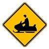 Lyle W11-6-12HA Traffic Sign, 12 x 12In, BK/YEL, SYM, W11-6