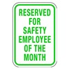 Lyle RP-053-12HA Parking Sign, 18 x 12In, GRN/WHT, Text
