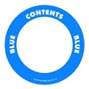 Label Safe 282202 Content Label, Blue, 2 In. W