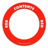Label Safe 282208 Content Label, Red, 2 In. W
