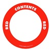 Label Safe 280508 Content Label, 2 In. W, Red