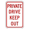 Lyle PPR-011-12HA Parking Sign, 18 x 12In, R/WHT, Text